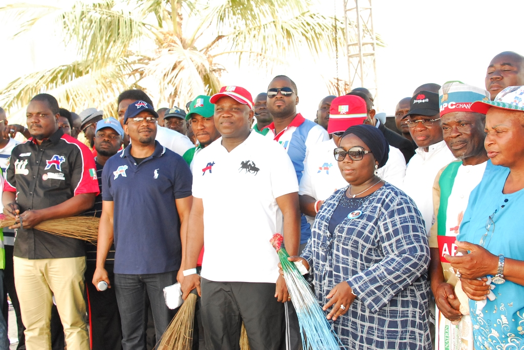 Mr.-Akinwunmi-Ambode-and-his-Running-mate-Alhaja-Adiat-Oluranti-Adegbile-at-the-10000-Man-March