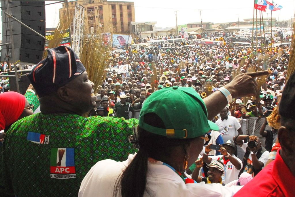 A Cross-Section of Electorates at the Ojo LGA Rally