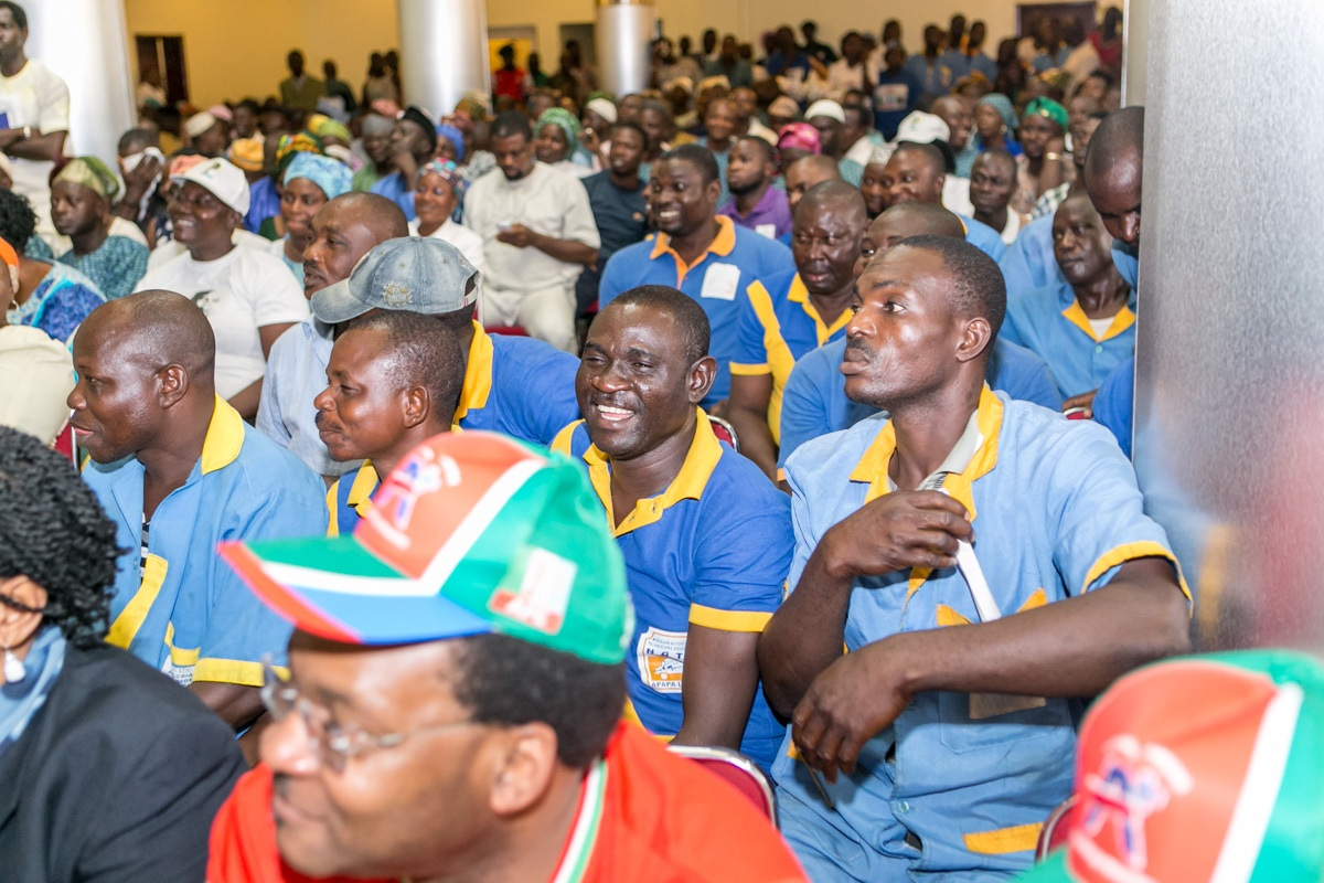 A cross section of the residents of Apapa during the Town Hall Meeting