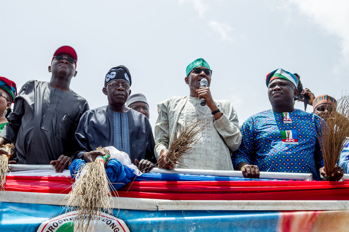 General(Rtd.) Muhammadu Buhari talking to Lagos State Electorates at the Event