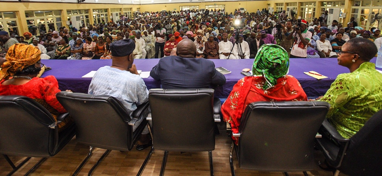 A Cross Section of Lagos Civil Servants at the Interactive Session with Ambode