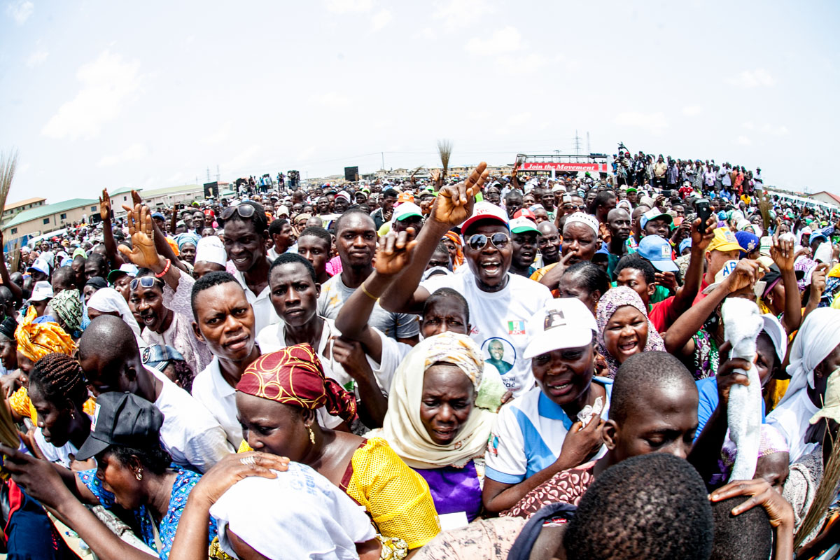 A Cross Section of Electorates at the Lagos Rally
